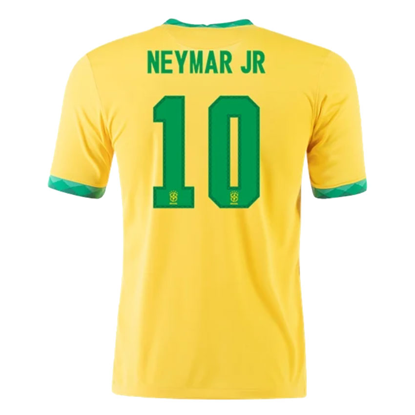 Camiseta de Fútbol NEYMAR JR #10 Personalizada 1ª Brazil 2021