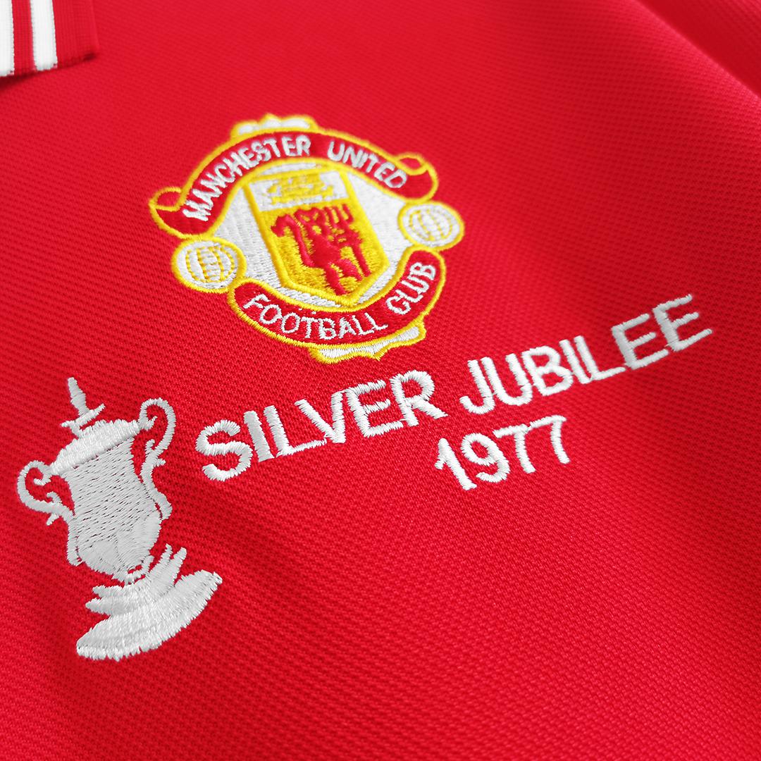 Camiseta de Fútbol 1ª Manchester United 1977 Retro
