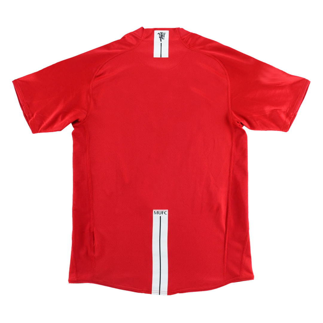 Camiseta de Fútbol Personalizada 1ª Manchester United 2007/08 Retro