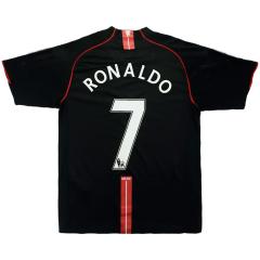 Camiseta de Fútbol RONALDO #7 2ª Manchester United 2007/08 Retro