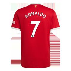 Camiseta de Fútbol RONALDO #7 Personalizada 1ª Manchester United 2021/22