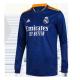Camiseta de Manga Larga de Fútbol Personalizada 2ª Real Madrid 2021/22